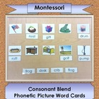 Consonant Blend Picture Word Cards ~ 3-part Montessori cards