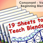Consonant - Vowel Beginning Blends - Roller Coaster Instru