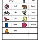 Consonant/Digraph Word Sorts with Pictures (Letter B)