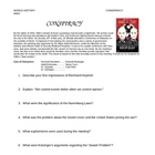 """Conspiracy"" Movie Study Guide"