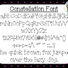 Constellation Font {True Type Font for personal and commer