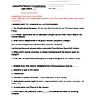 """Constitution Cafe"" Lesson Plan Template and Grading Rubri"