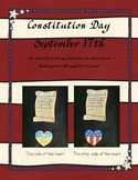 Constitution Day: An activity to bring awareness in K-3