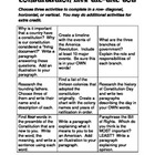 Constitution Day Tic-Tac-Toe Activity