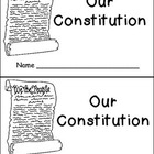 Constitution Day- Very EASY Emergent Reader- Kindergarten