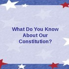 Constitution Quiz Jeopardy!