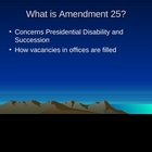 Constitutional Amendment 25 Game