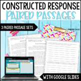 Constructed Response Practice and Assessment CCSS Aligned