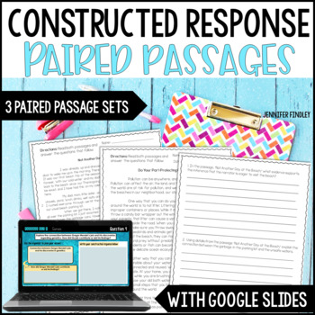 Constructed Response Practice and Assessment CCSS Aligned {Paired Passages Set}