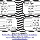 Contact Card Black and White Chevron