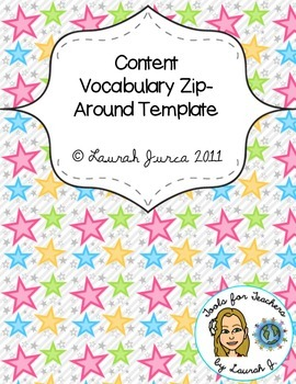 Content Vocabulary Zip Around Template