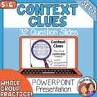 Context Clues PowerPoint: 32 Practice Slides for Grades 5-6+