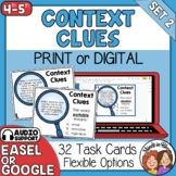 Context Clues Task Cards: 32 Cards for Grades 4-5
