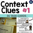 Context Clues - Task Cards, Scoot Game, Assessment, Multip