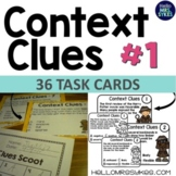 Context Clues Task Cards, Scoot Game, Assessment, Multiple Choice