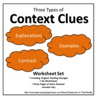Context Clues, Three Types - Worksheet Set