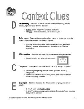Context Clues:  Types of Context Clues