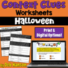 Context Clues Worksheet- Halloween