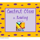 Context Clues in Reading! Chart and Sentence Handout