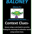Context Clues with Baloney (Book by Jon Scieszka)