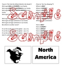 Continent Concentration Game and Continent Songs