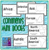 Continents Mini Book Set:  7 Emergent Readers