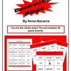 Contraction Bingo w/ 30 Boards