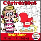 Contraction Game: Birdie Contractions Game for Literacy Centers