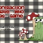 Contraction I Have... Who Has... Game
