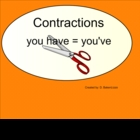 Contractions Smartboard Lesson