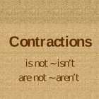 Contractions isn't and aren't