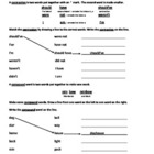 Contractions/Compound Words Worksheet 1