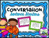 Conversation Sentence Starters:  Great for Social Skill De