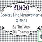 Convert Like Measurements Bingo Game PPT with Blank Bingo