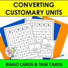 Converting Customary Units  Bingo and Task Cards, CCS: 5.MD, 6.MD
