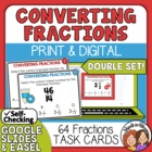 Converting Fractions Task Cards: 64 Multiple Choice Cards 