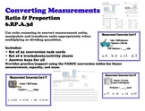 Converting Measurements 6.RP.3 Ratio Task Card Worksheet C