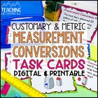 Converting Measurements Task Cards Common Core { Customary