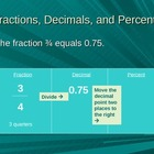 Converting and Comparing Fractions, Decimals, and Percents