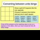 Converting between units bingo