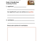 Cook-A-Doodle-Doo Vocabulary Practice