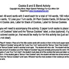Cookie S and S Blend Activity