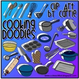 Cooking Doodles (BW and full-color PNG images)