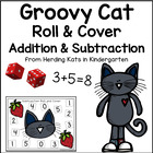 Cool Cat Themed Roll & Cover Addition & Subtraction Games