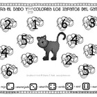 Cool Cat's Roll and Color Numbers Spanish Math Center