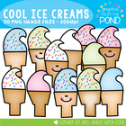 Cool Ice Creams - Clipart Graphics From the Pond