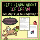 Cool Treats Ice Cream Webquest Internet Scavenger Hunt