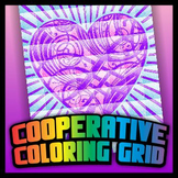Cooperative Coloring Grid - Tangled Heart