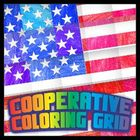 Cooperative Coloring Grid - US Flag