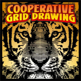 Cooperative Grid Art Project - Tiger